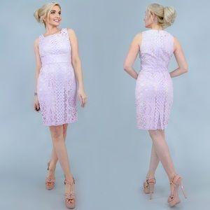 Antonio Melani Lilac Purple Lace Dress